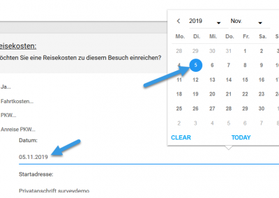 Kalender- und Zeitfunktion