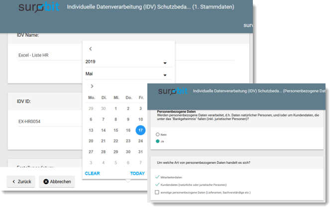 survbit survey Umfrage-Tool mit verschiedenen Fragetypen